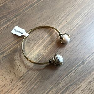 Anthropologie Claw and Stone Cuff Bracelet